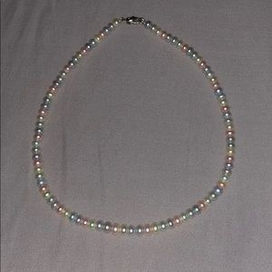 Cultured pearl pastel necklace